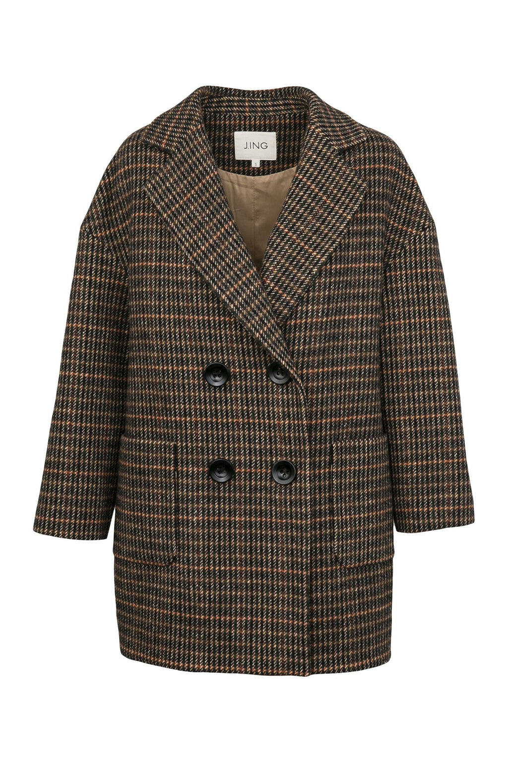 Charles Brown Oversize Pea Coat by J.ING
