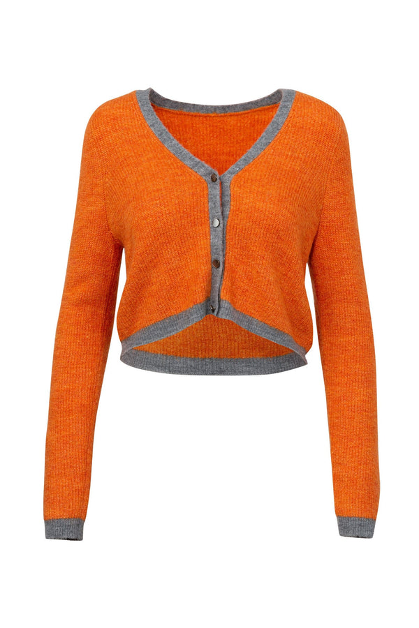 Brit Orange Knit Cardigan