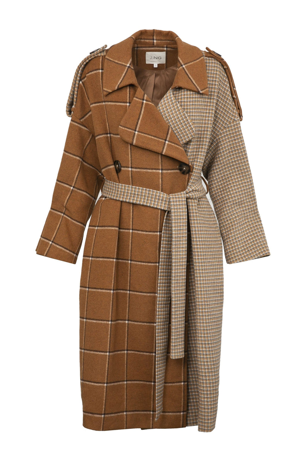 Mixer Brown Trench Coat