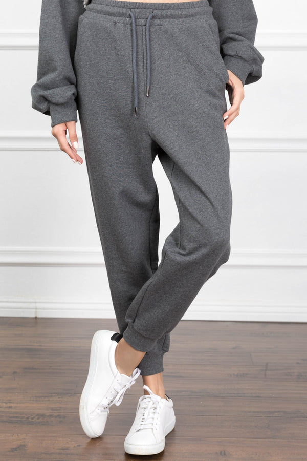 Eliza Charcoal Joggers in Pants by J.ING - an L.A based women's fashion line