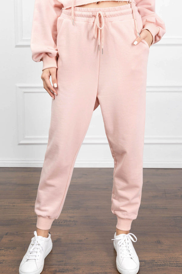 Eliza Pink Joggers in Pants by J.ING - an L.A based women's fashion line