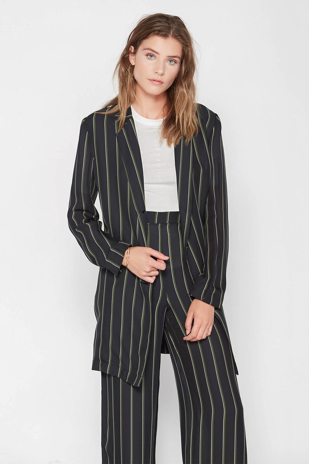Celine Pinstriped Blazer in Coats & Jackets by J.ING - an L.A based women's fashion line
