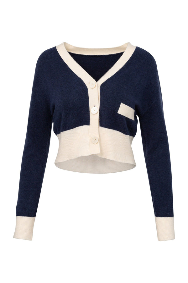 Piper Navy Blue Knit Cardigan