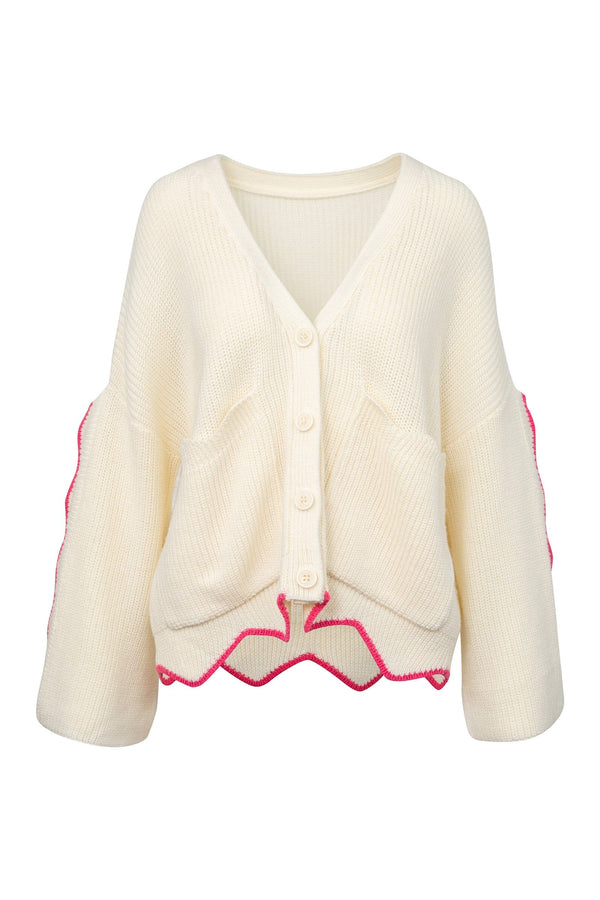 Finnegan White Knit Cardigan