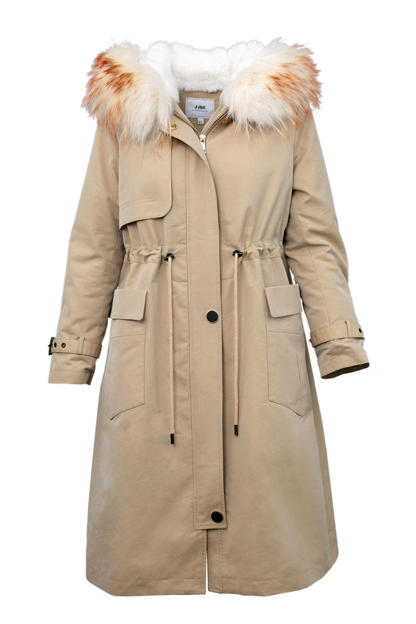 Trapper Camel Fur Lined Parka