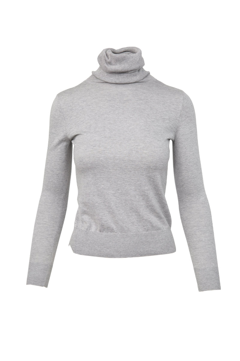 Denonia Grey Turtleneck Top