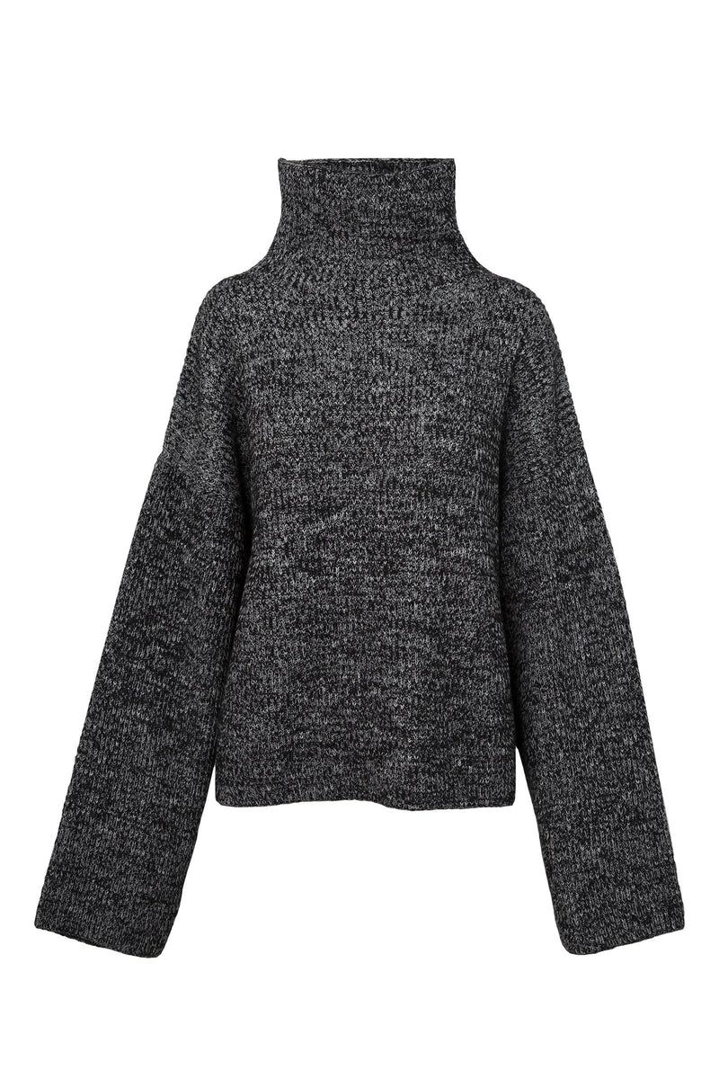 Constance Black Knit Cape Sweater