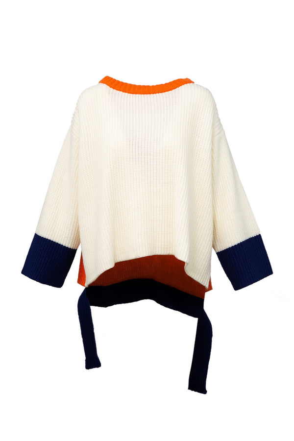 Jacky Color Block Oversized Sweater