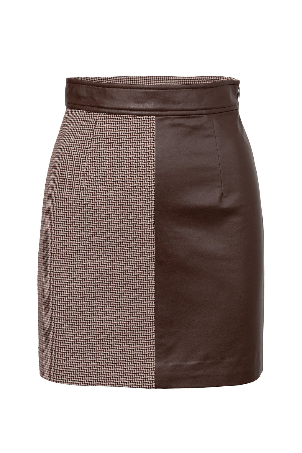 Cedar Brown Two-Toned Skirt