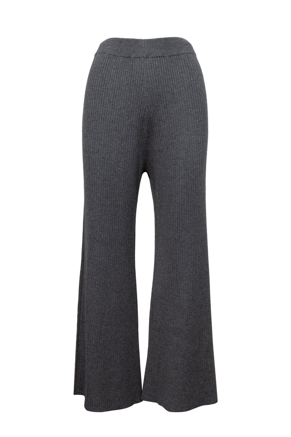 Grecian Grey Wide Leg Knit Pants