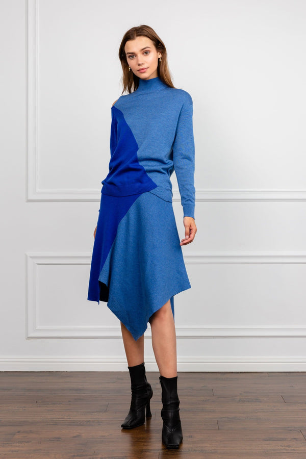 Shader Blue Turtleneck Long Sleeve