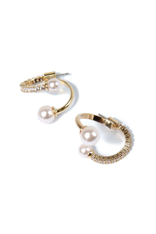 Swirled Pearl Earrings
