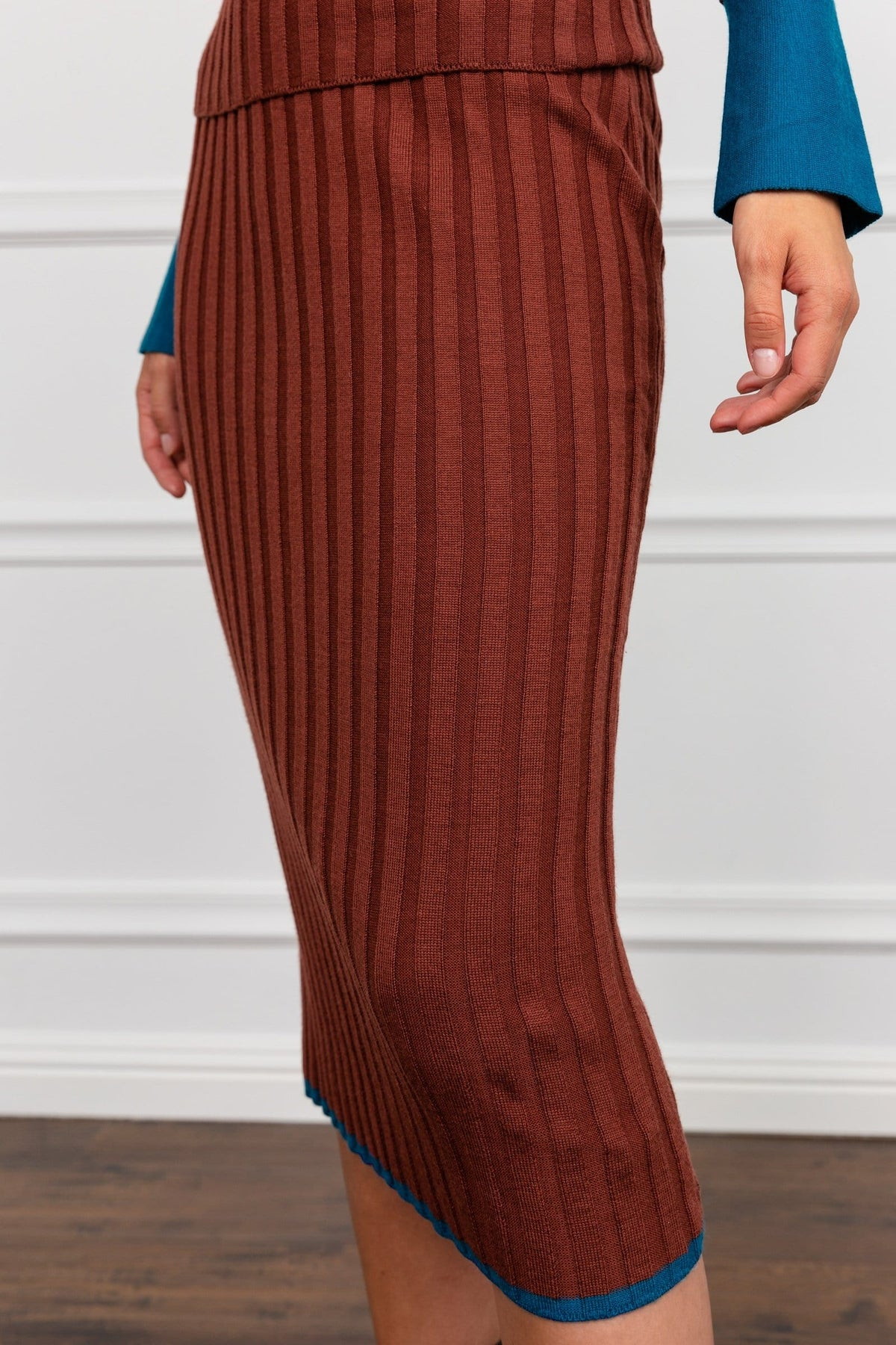 Patina Knit Midi Skirt