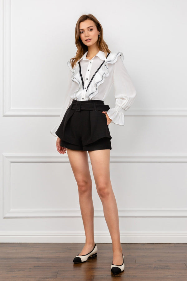 Black Belted Shorts | J.ING Women's Shorts