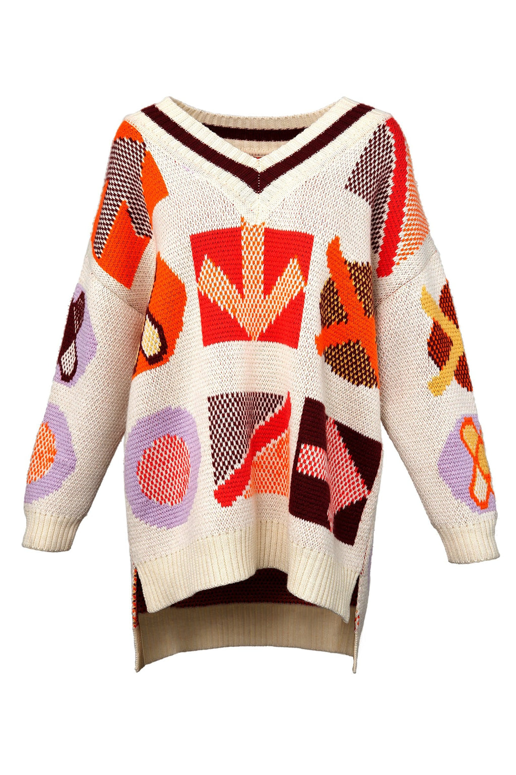 Symbols Knitted Sweater by J.ING Women's Sweaters