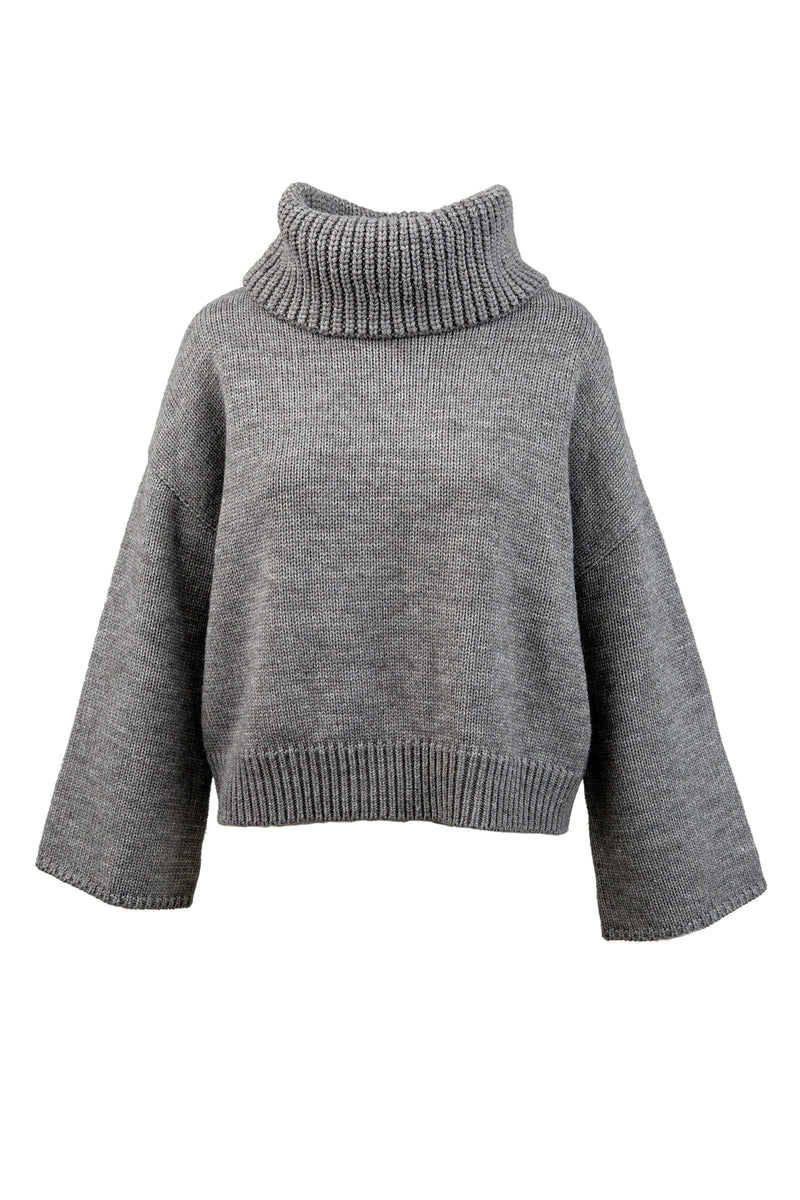 Bria Grey Cowl Neck Sweater
