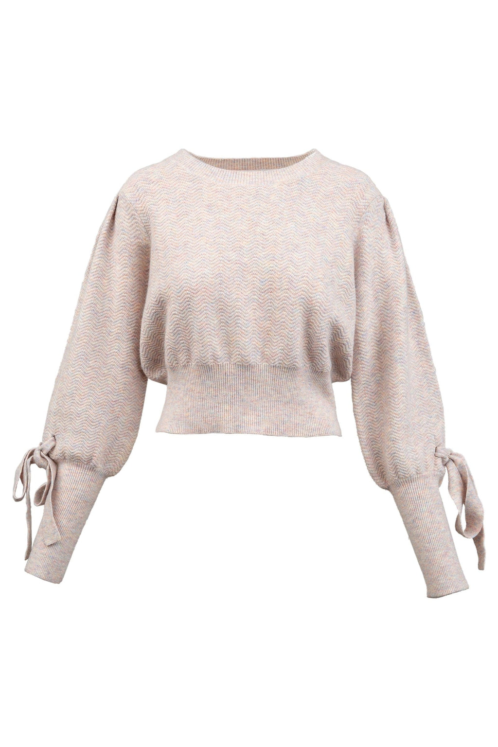 Boxer Pink Bowed Sweater for women by J.ING