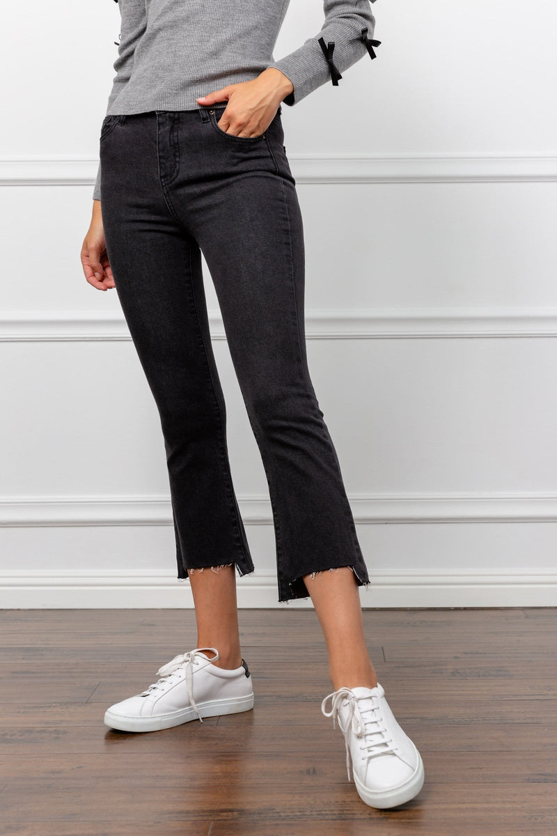 Demuro Black Ankle Cropped Jeans