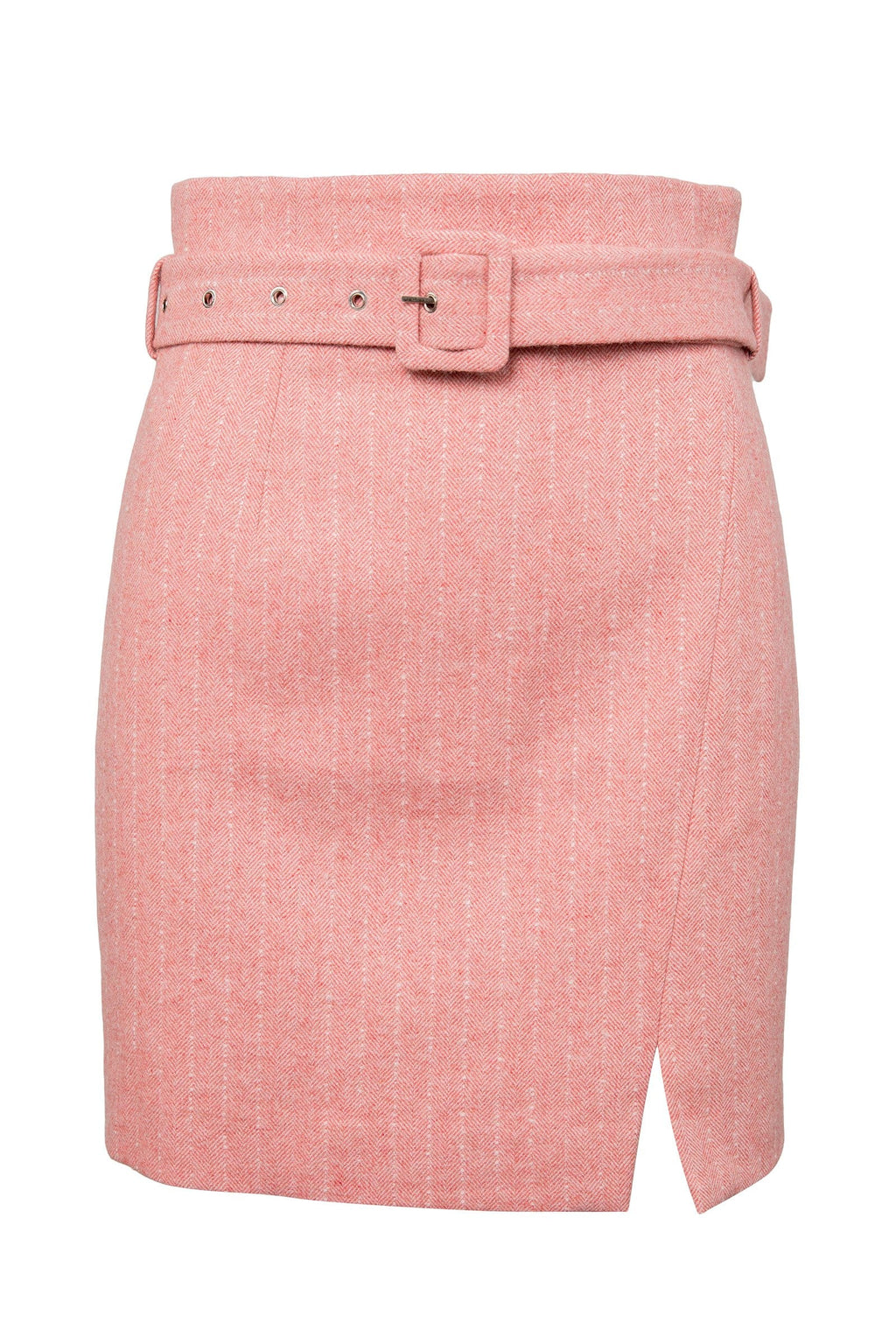 Isabelle Pink Belted Pencil Skirt by J.ING