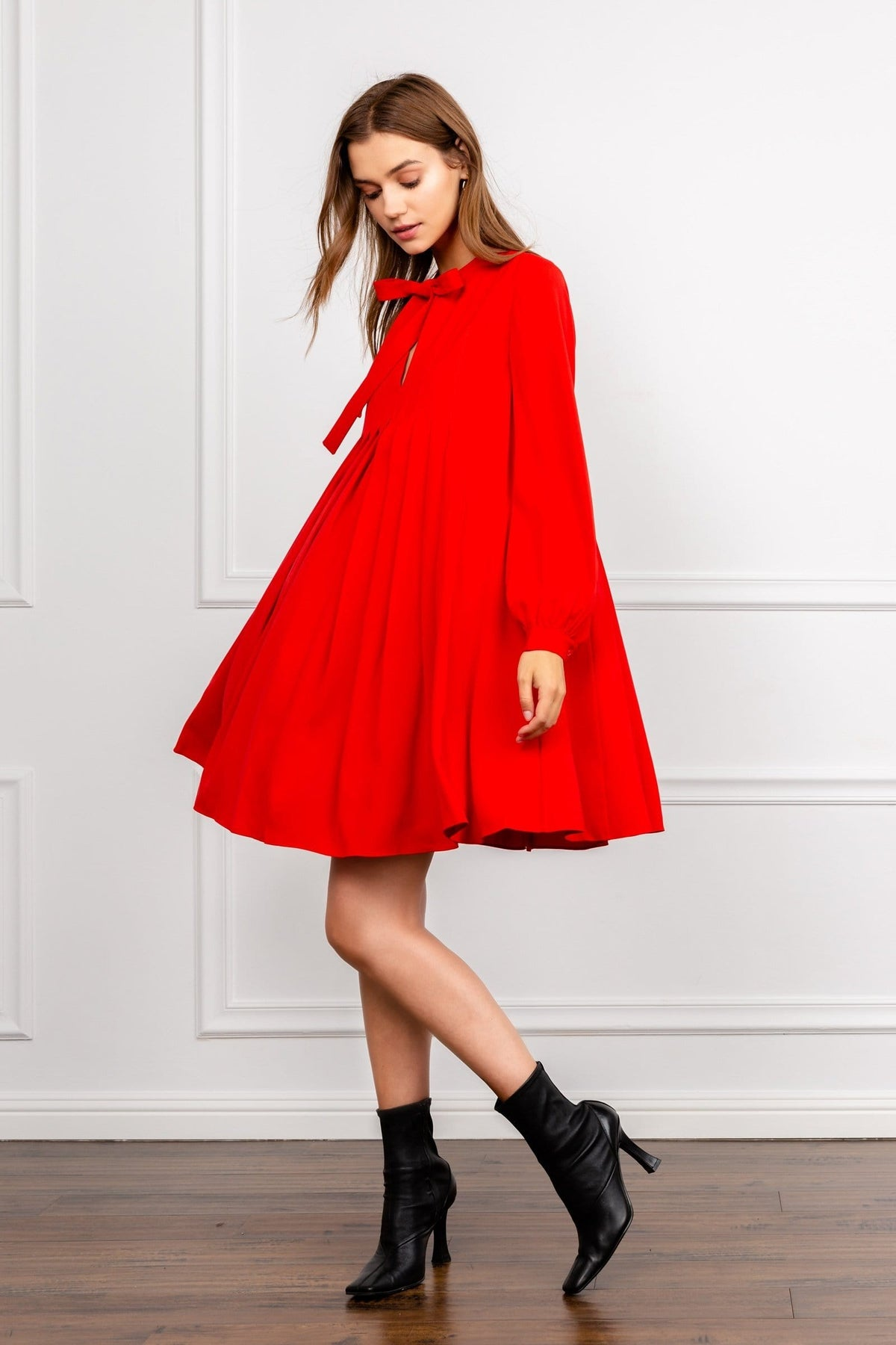 Scarlet Red Tent Dress