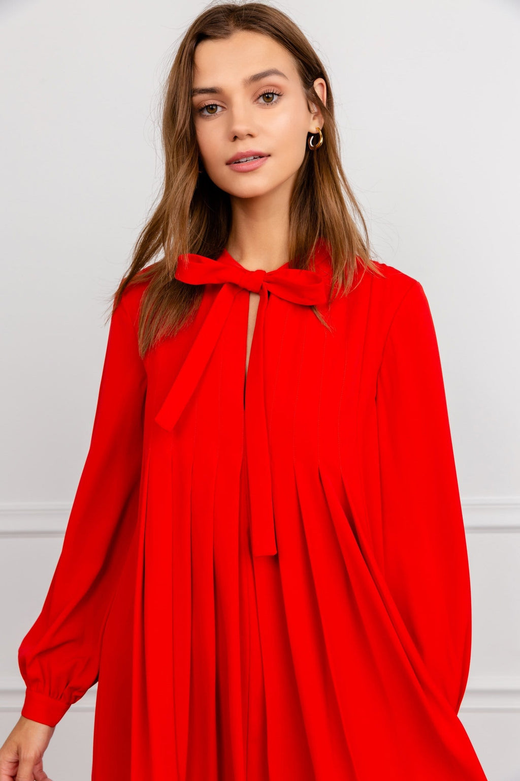 Scarlet Red Tent Dress by J.ING Women's Dresses Back to School Style
