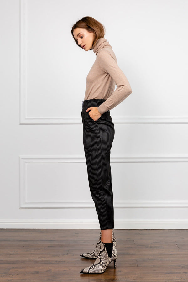 The Thorton Relaxed Pinstriped Cropped Pants