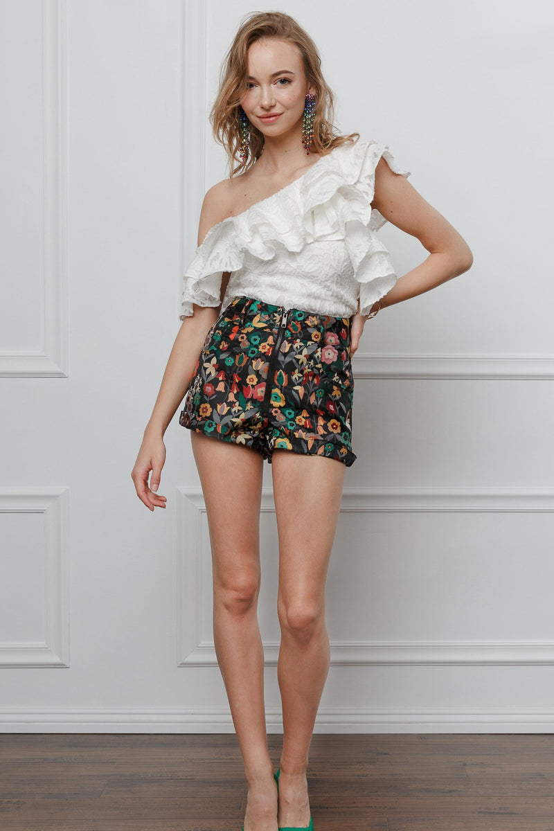 Yan Yan Tropical Shorts in Pants by J.ING - an L.A based women's fashion line