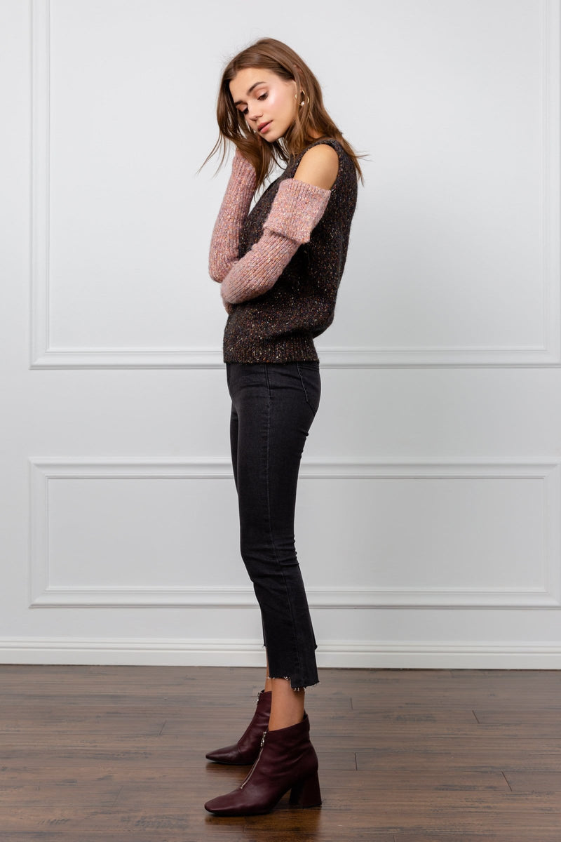 Wooly Grey Detached Sleeve Sweater