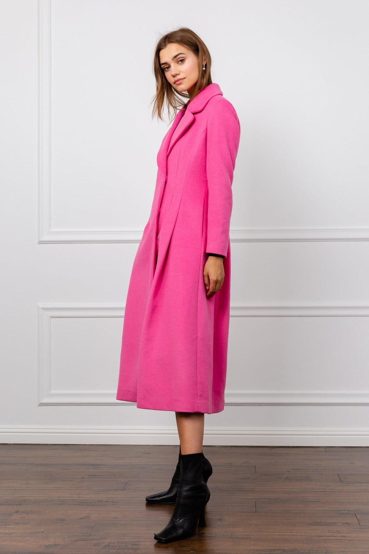 Pinky Reefer Wool Coat