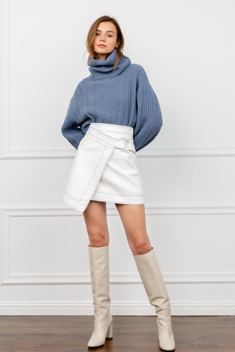 Winter White Wrap Skirt