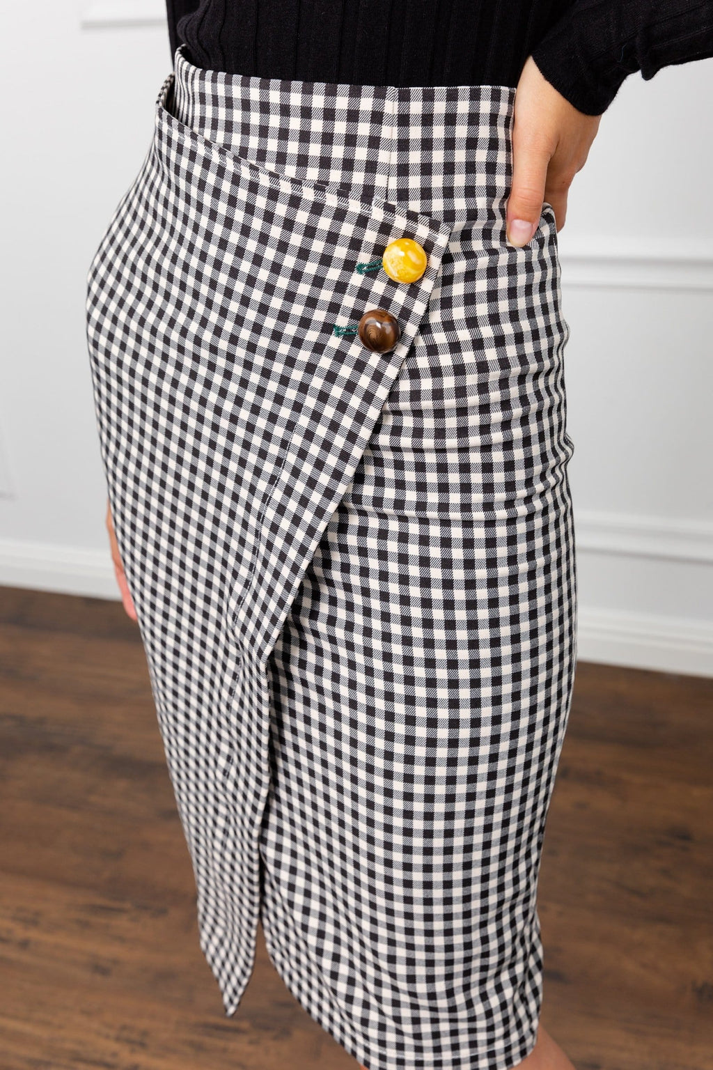 Mod About You Pencil Wrap Skirt