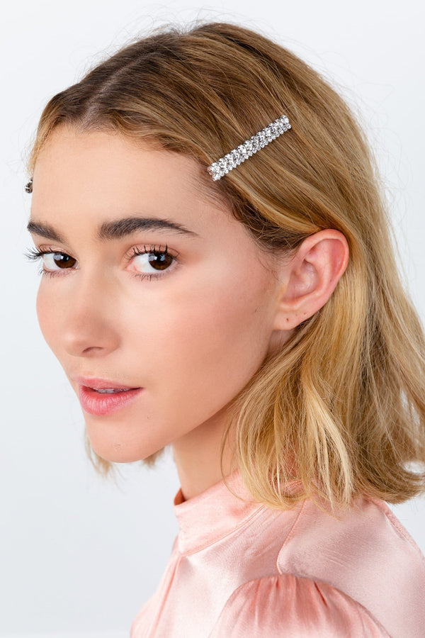 Bedazzled Faux Crystal Hair Clip by J.ING Women's Apparel