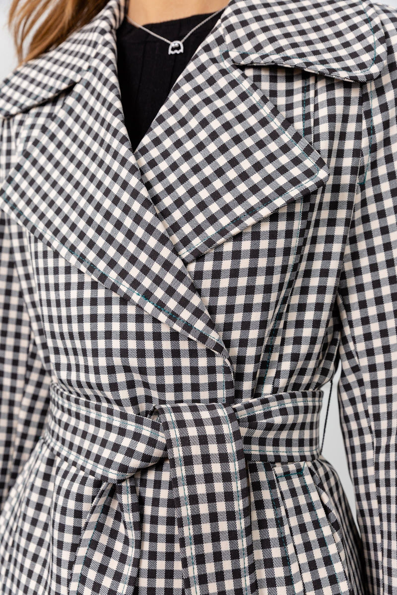 Mod About You Gingham Coat