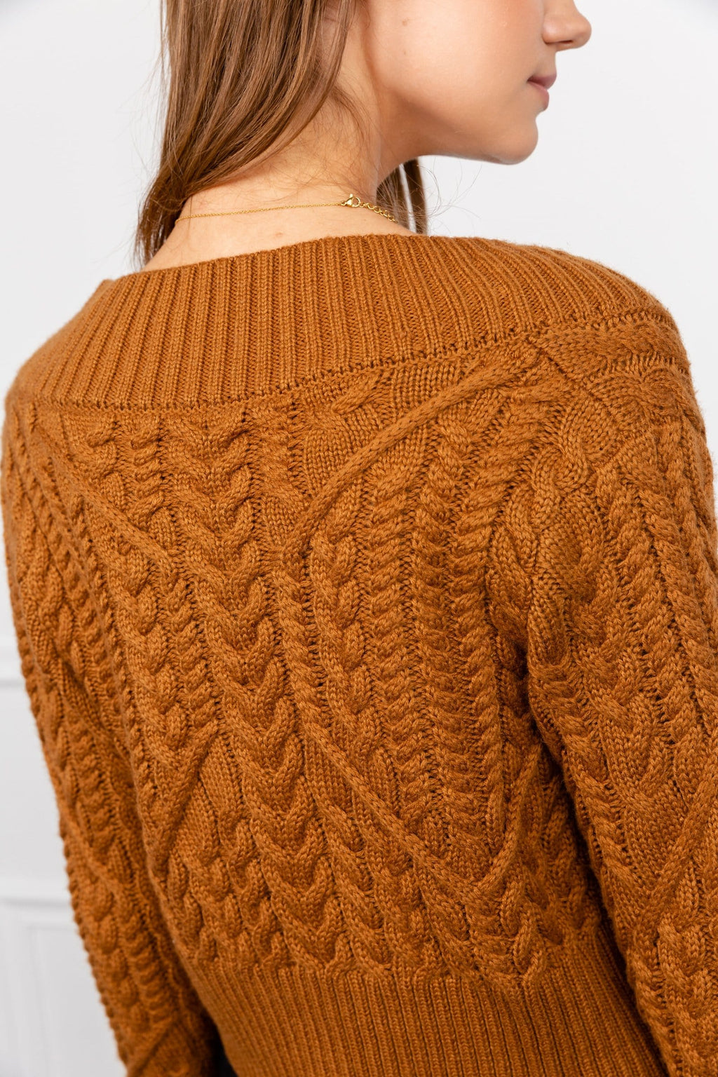 Auburn Braided Rib Knit Sweater