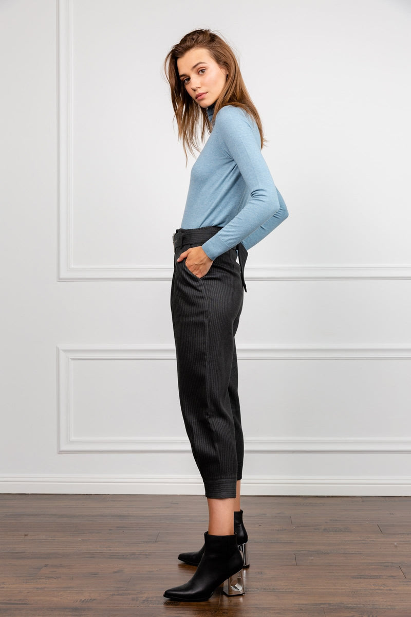 High Tide Grey Cropped Trousers