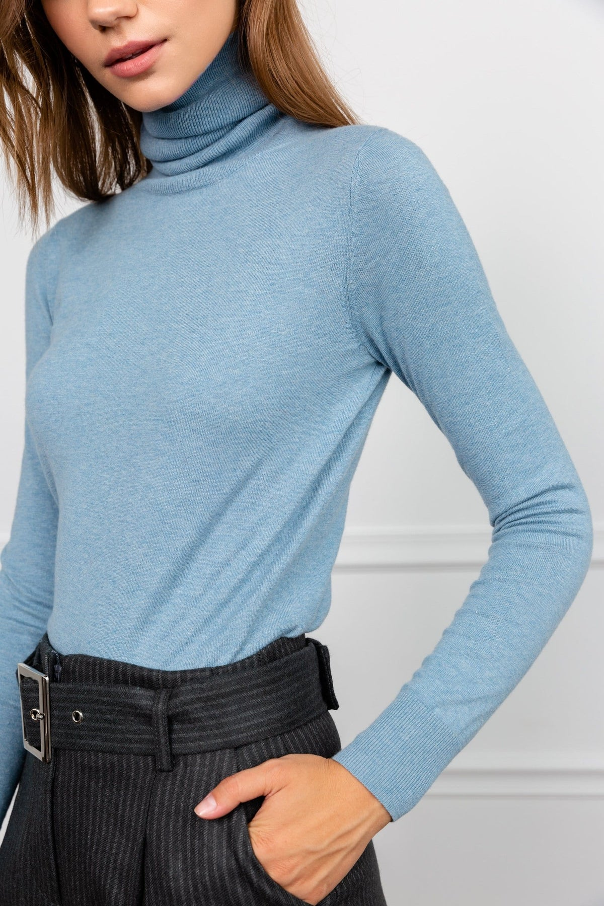 Denonia Lilac Turtleneck Top