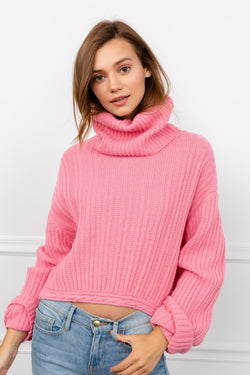 Tink Pink Turtleneck Sweater