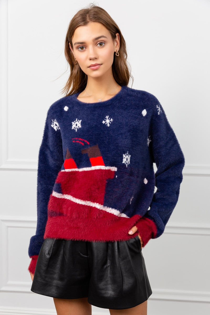 Santa is in the Chimney Sweater