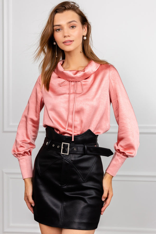 Danae Pink Silky Blouse