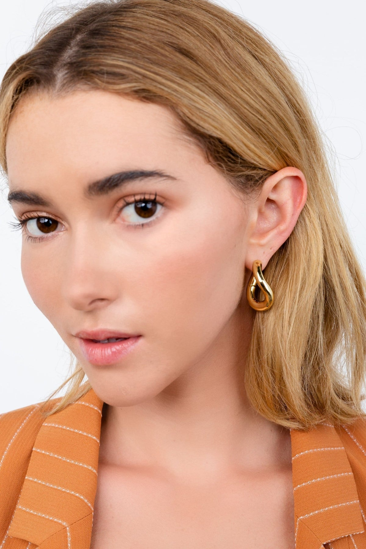 Melted Gold Earrings