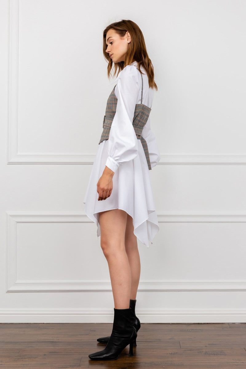 Corset Vest Shirt Dress