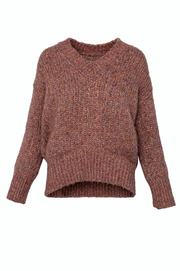 Tawny Mauve Slouchy Sweater