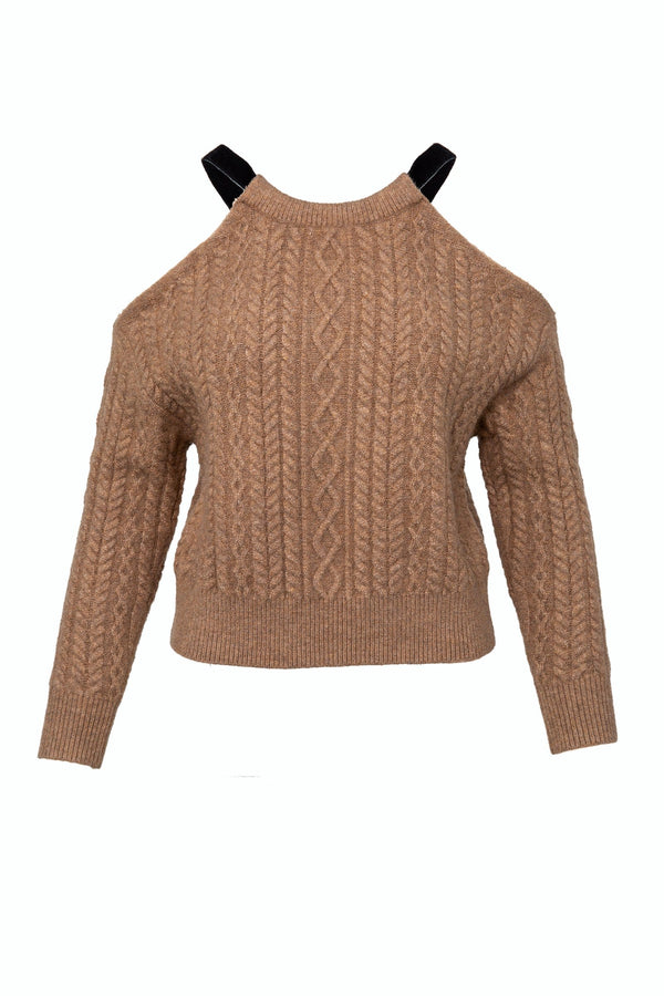 Janine Brown Cold-Shoulder Sweater