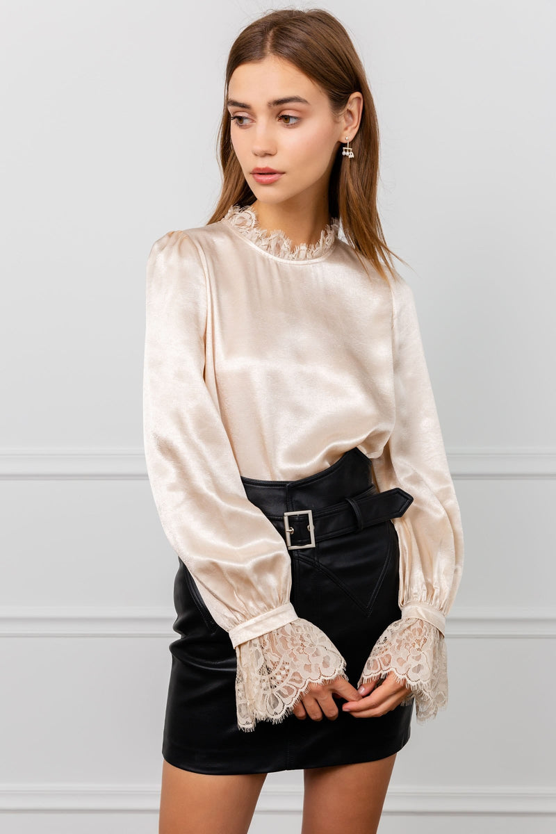 Gertrude Silky Lace Blouse
