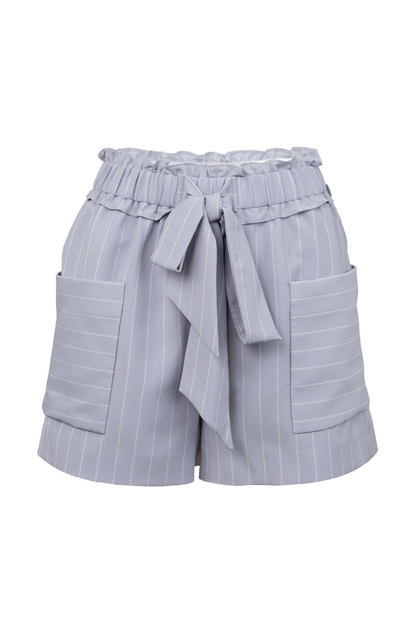 Sophie Lavender Striped Shorts