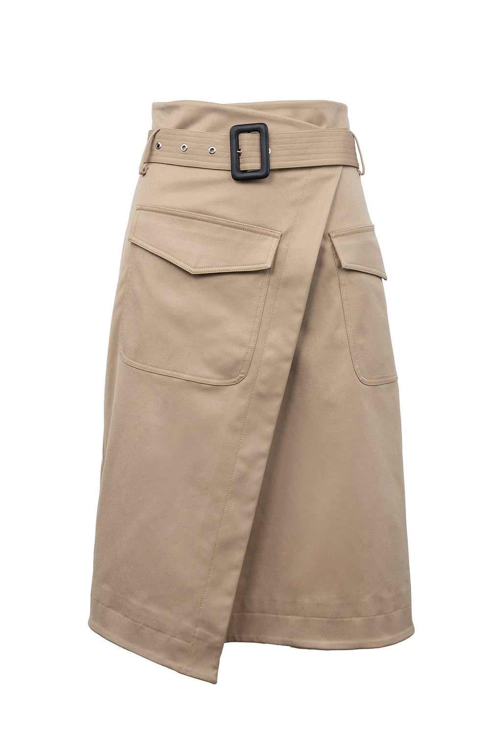 Morgan Tan Midi Skirt by J.ING Women's Skirts
