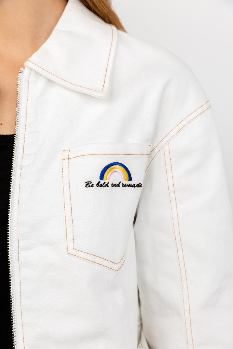 Ryder White Jean Jacket