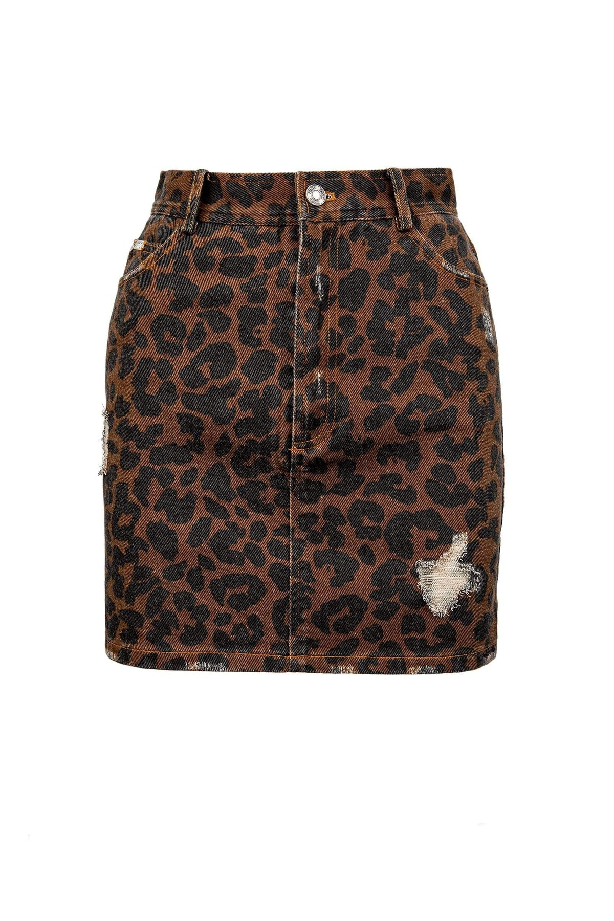 Pounce Leopard Mini Skirt