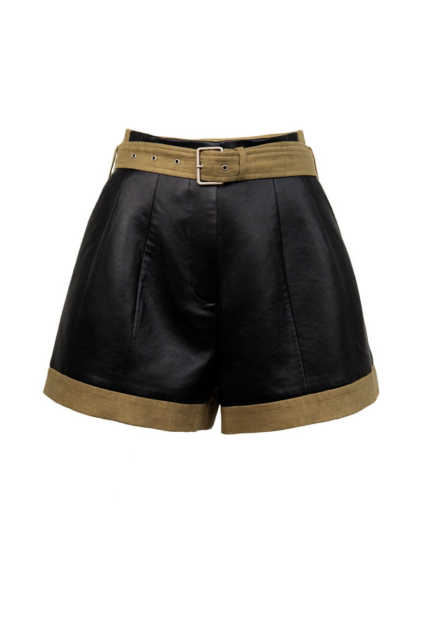 Xena Black Cargo Shorts