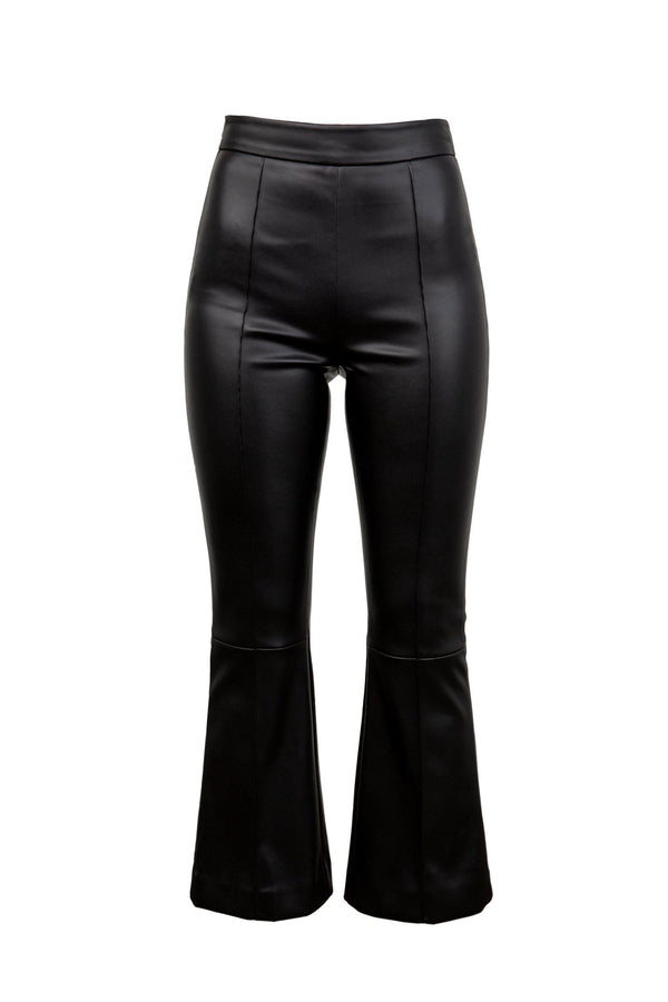 Lexi Black Leather Bellbottoms